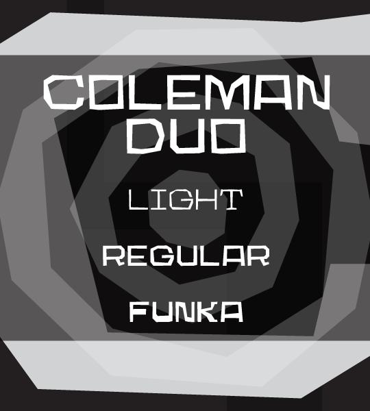Coleman Duo font