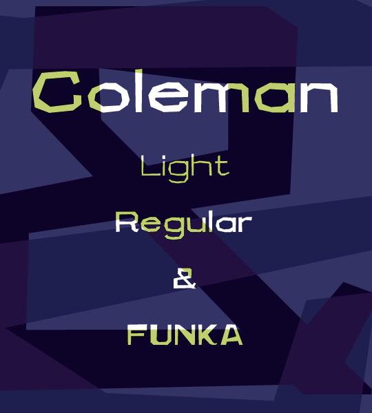 Coleman font