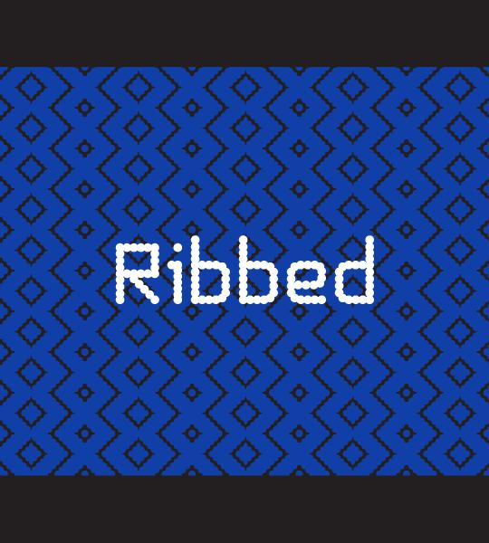 Ribbed font