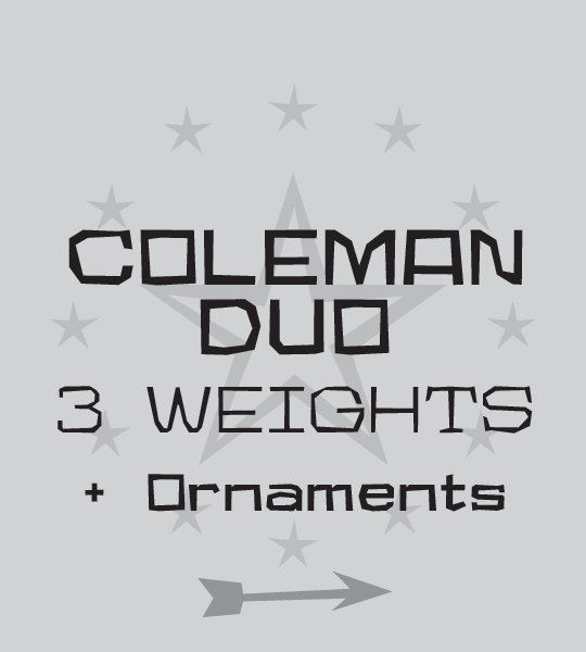 Coleman Duo font family